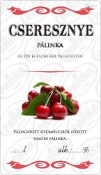 Matrica cseresznye pálinka 50db/csom