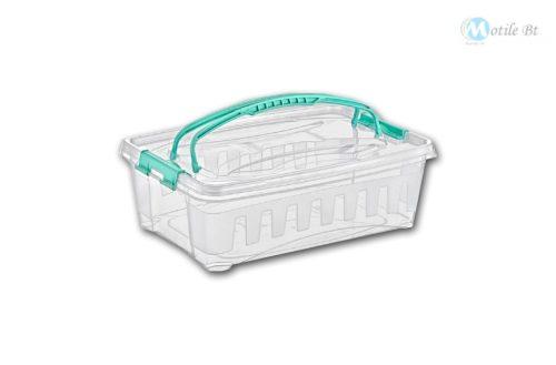 Tároló doboz tetővel 9 literes