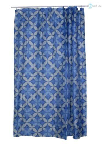 Zuhanyfüggöny kék színű 180x200 cm