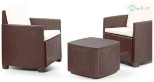 Kerti bútor Trinacria szett barna