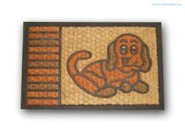Lábtörlő kókusz+gumi kutyás 60x40 cm