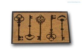 Lábtörlő kókusz kulcs mintázatú