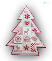 Karácsonyfa alakú tál
