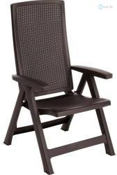 Kerti szék dönthető monteral