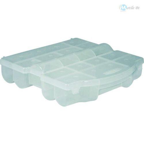 17 rekeszes átlátszó műanyag rendszerező tároló doboz