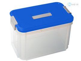Zárható tároló láda fogantyúval 14 literes