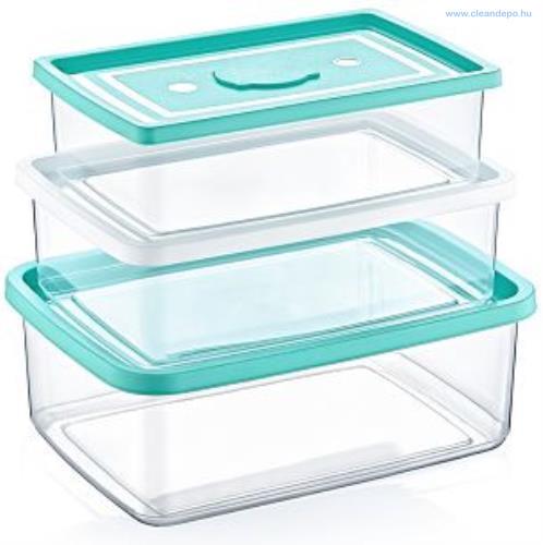 Multibox szett ételtartó téglalap alakú