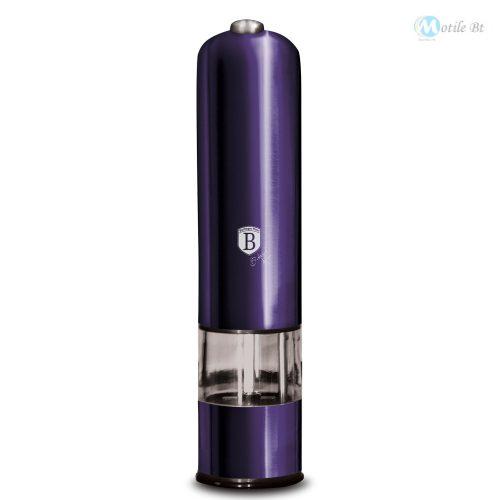 Berlinger Haus Purple Eclipse Collection elektromos fűszermalom metál külső bevonattal, LED fénnyel, lila