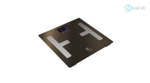 Berlinger Haus Metallic Line Shine Black Edition digitális testanalizáló személymérleg, fekete