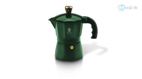 """Berlinger Haus Emerald Collection 3 személyes """"kotyogós"""" kávéfőző, smaragdzöld BH6385"""
