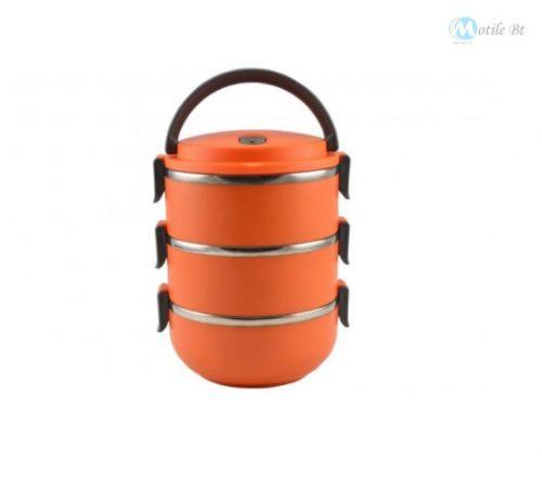Ételhordó 3 részes 3x0,7 liter,színes