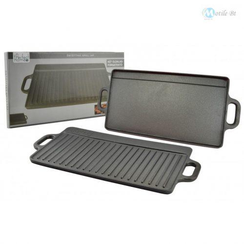 Perfect Home Öntöttvas grill lap 2 oldalas 51*24cm 12014