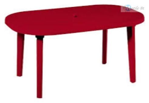 Duna asztal bordó 140 cm