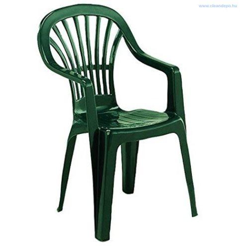 ZENA magastámlás szék   zöld