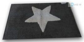 Szürke csillag mintázatú szőnyeg 80x50 cm