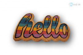 Lábtörlő kókusz Hello feliratú