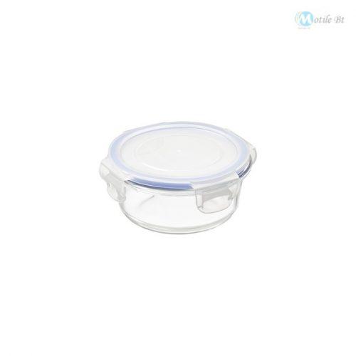 Üveg ételtartó műanyag fedéllel 0,4 L