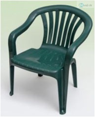 Paris alacsonytámlás szék zöld