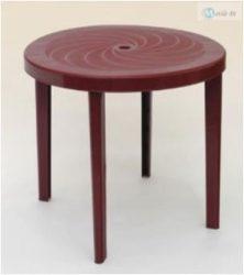 Laura kerek asztal 90 cm bordó